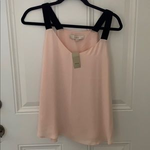 Racer back light pink blouse